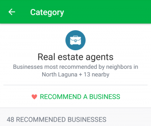 How to Find or Give Recommendations on Nextdoor. Select a category. How to find recommendations on Nextdoor. How to give recommendations on Nexdoor