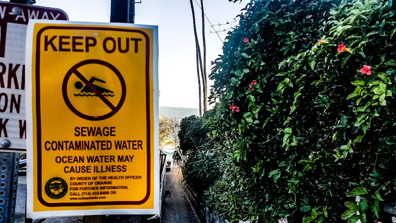 OC Health Care Agency Issues Ocean Water Closure Due to Raw Sewage Spill
